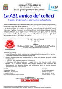 manifesto Celiachia Novembre 2012